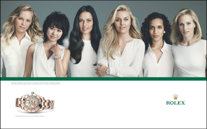 Right, so rolex has taken some of the greatest sporting talent in the world and make them appear like they are all in a cult.